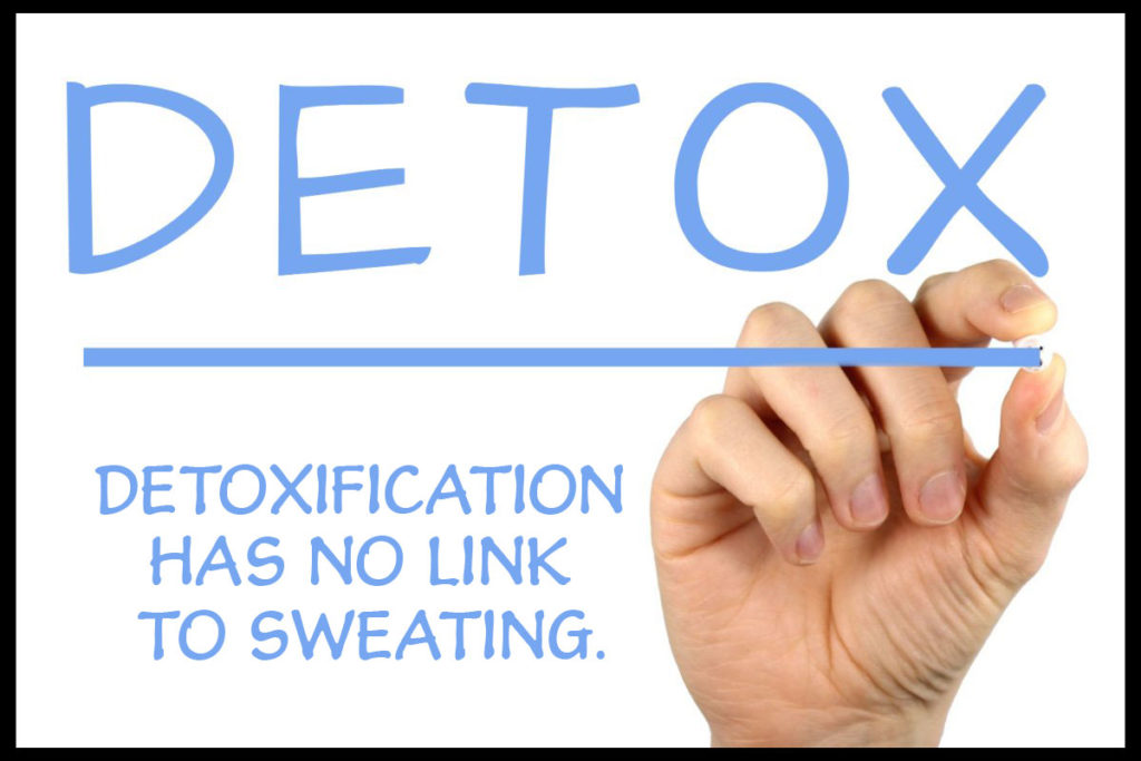 detoxification has no link to sweating
